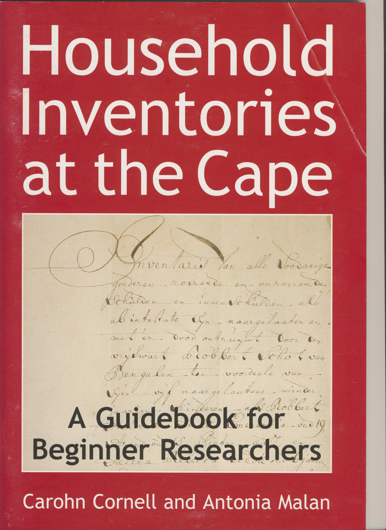 Household Inventories at the Cape