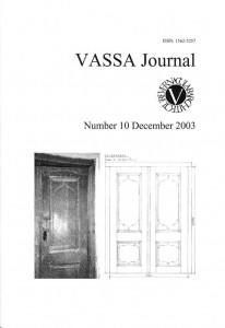 VASSA Journal 10 Cover
