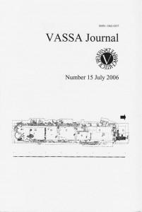 VASSA Journal 15 Cover