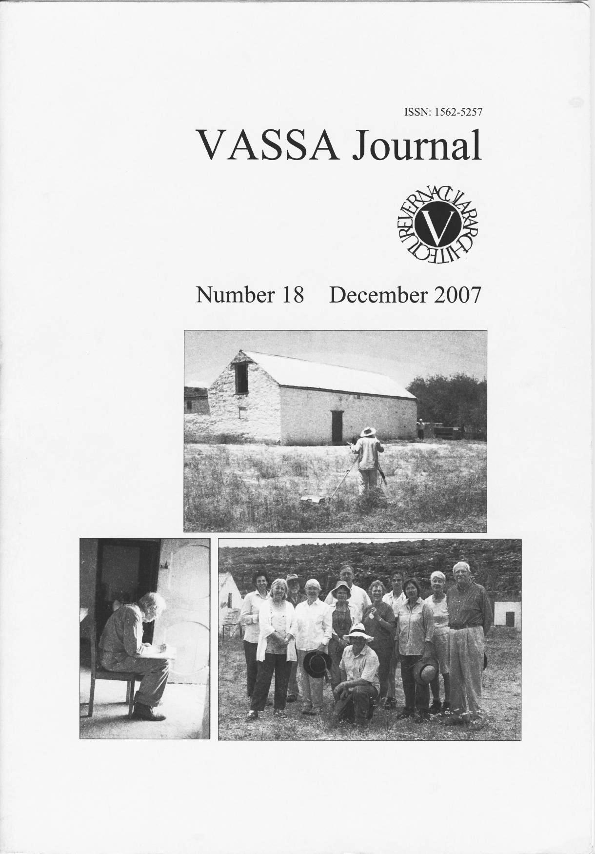 VASSA Journal 18 Cover
