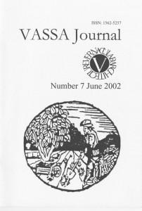 VASSA Journal 7 Cover