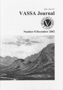 VASSA Journal 8 Cover