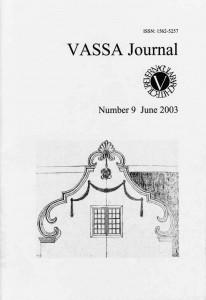 VASSA Journal 9 Cover