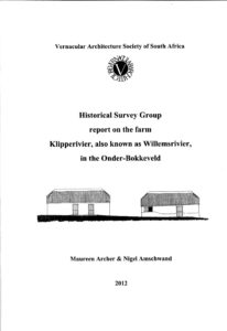 Report - The Farm Klipperivier / Willemsrivier, in the Onder-Bokkeveld
