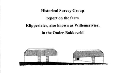 Report – The Farm Klipperivier, also known as Willemsrivier, in the Onder-Bokkeveld