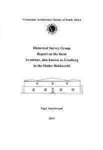 Report - The Farm Avontuur, also known as Grasberg, Onder-Bokkeveld