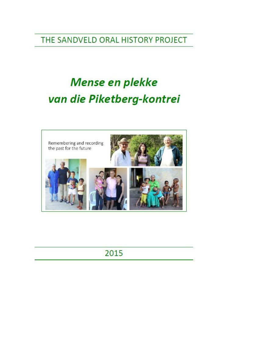 Piketberg Oral History Project cover