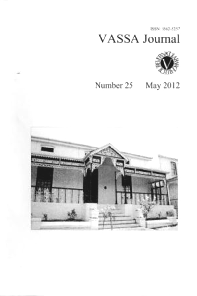 VASSA Journal Vol. 25
