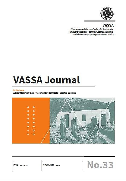 VASSA Journal 33 cover