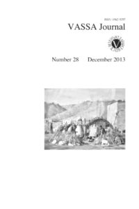 VASSA Journal 28 Cover