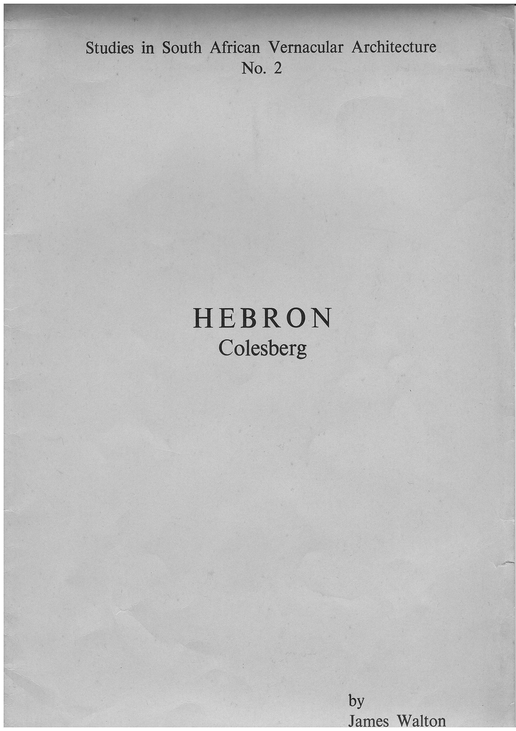 Hebron - Colesberg - by James Walton